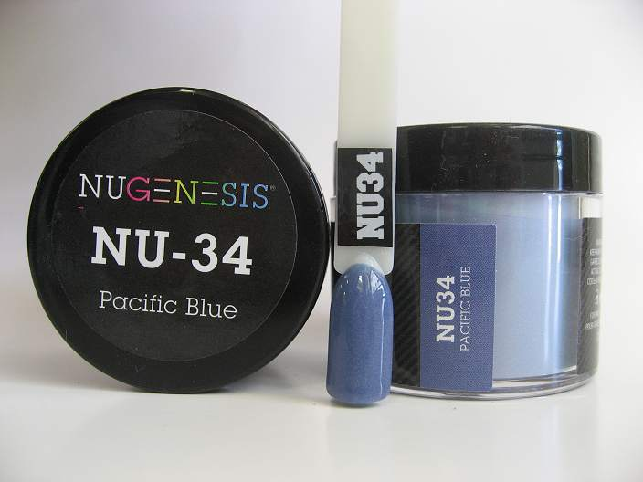 Nugenesis Dipping Powder Nu34 Pacific Blue Manicure