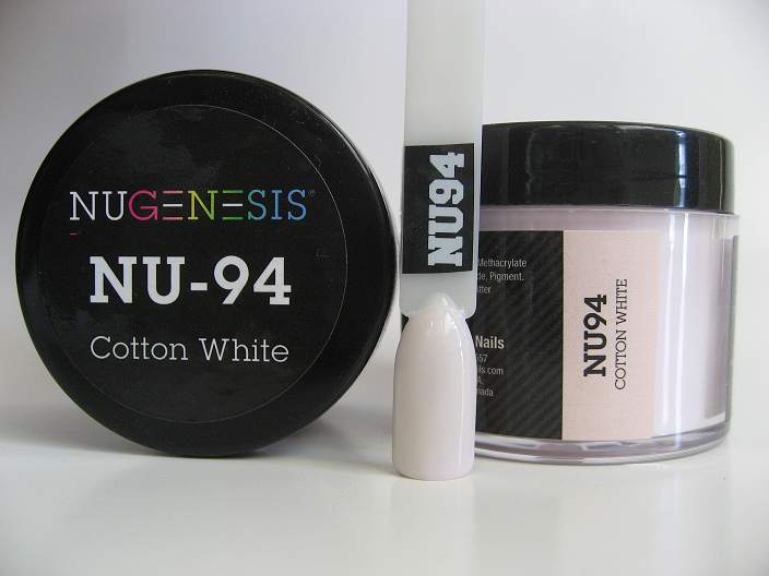 Nugenesis Dipping Powder Nu94 Cotton White Manicure