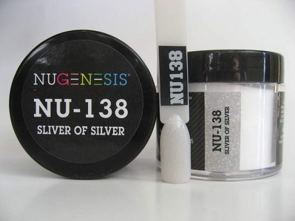 NuGenesis Dipping Powder - Sliver of Silver NU-138