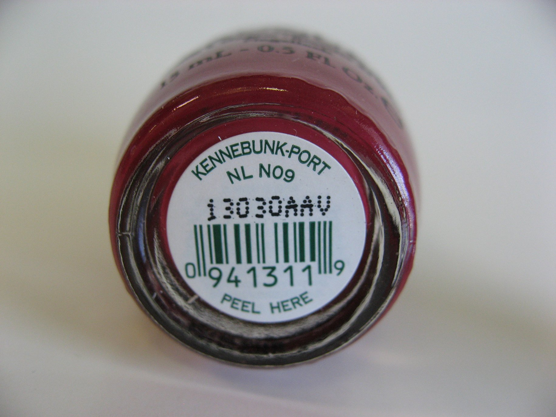 Bottom Label of Kennebunk-Port (Discontinued OPI Nail Polish)