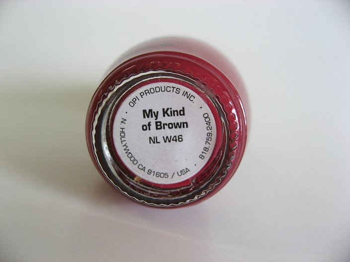 Bottom Label of W46 - My Kind of Brown