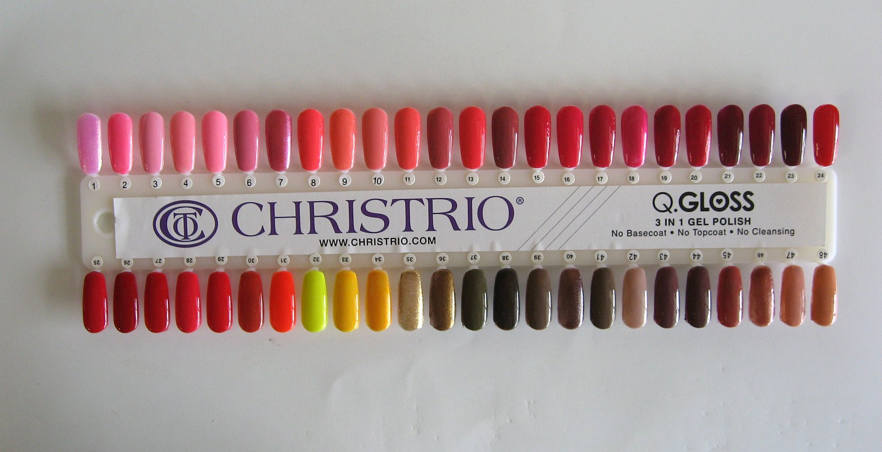 Christrio QGloss Color Chart